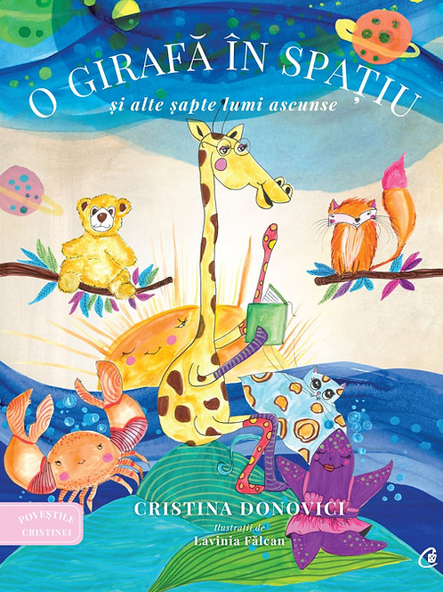 O girafa in spatiu