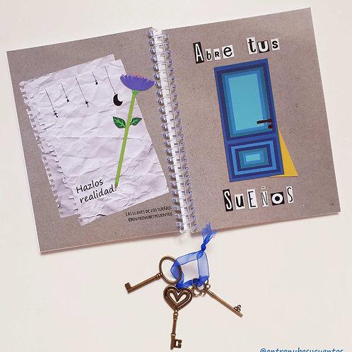 """Libreta Y llaves - """"Las llaves de los sueños"""""""