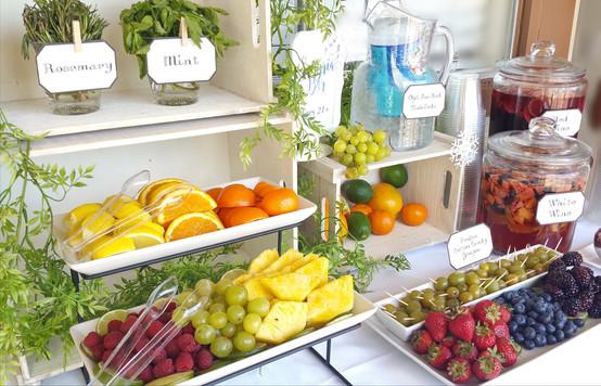 Refreshing Fruits & Sangria in the Desert