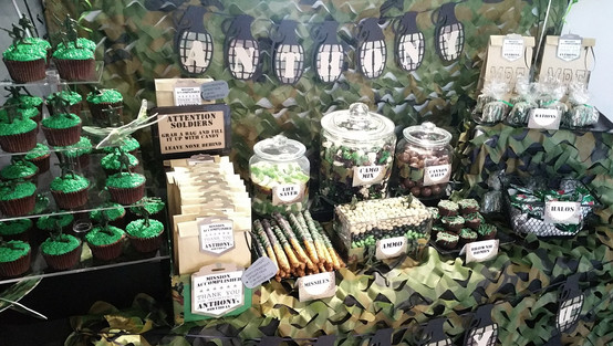 Camouflage Birthday Sweet Bar