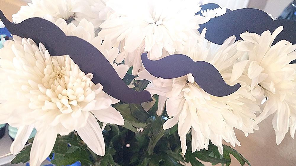 mustache in flower