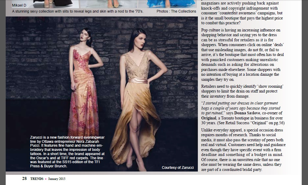 Trends Magazine - Article on Zarucci