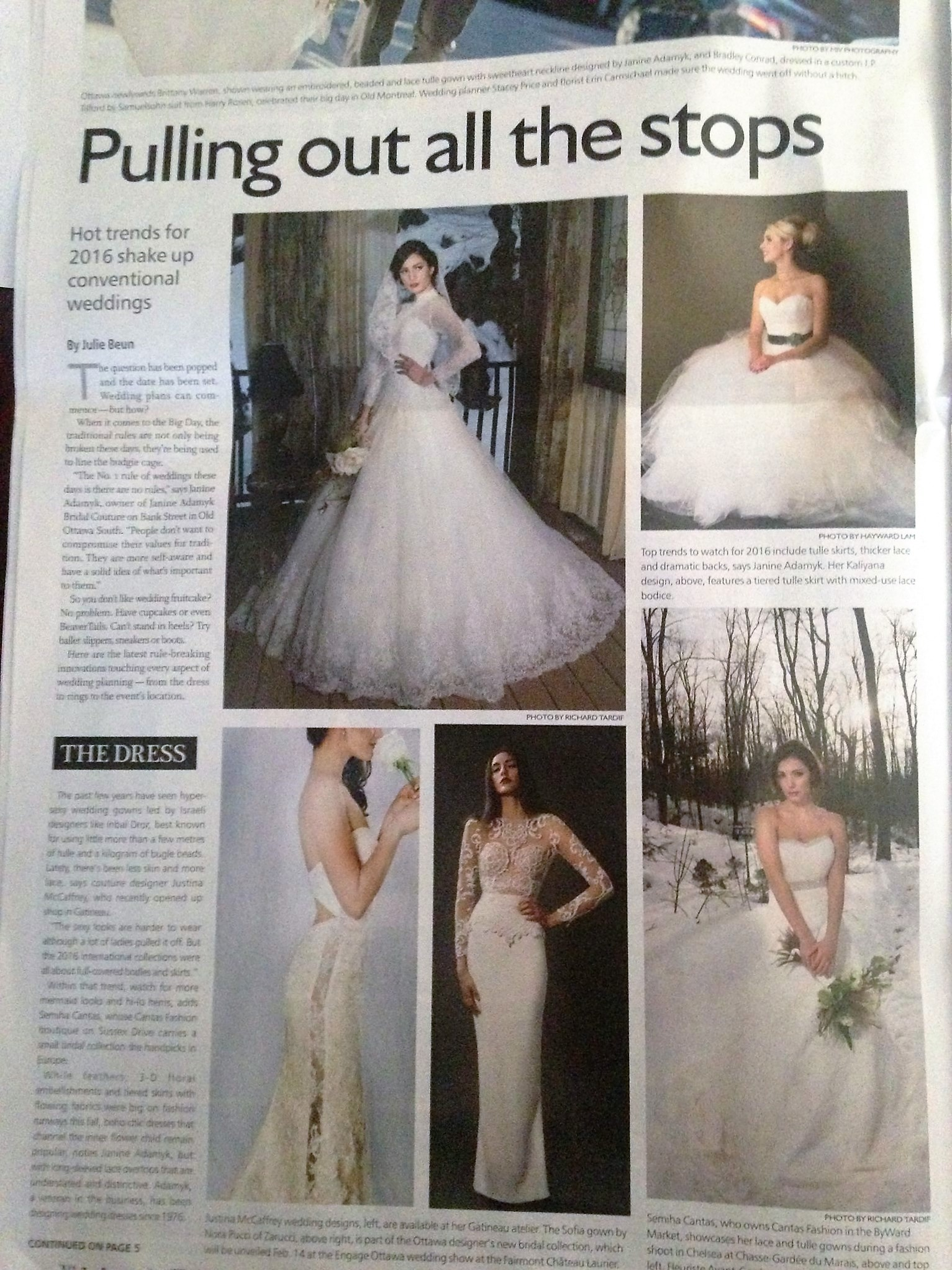 Ottawa Citizen - Sofia Gown