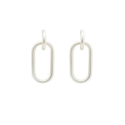 Paperclip Hoop Earrings