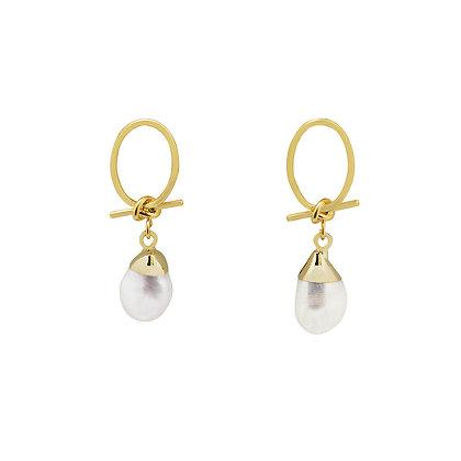 Love Knot & Pearl Drop Earrings