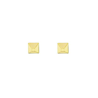 Gold Pyramid Studs