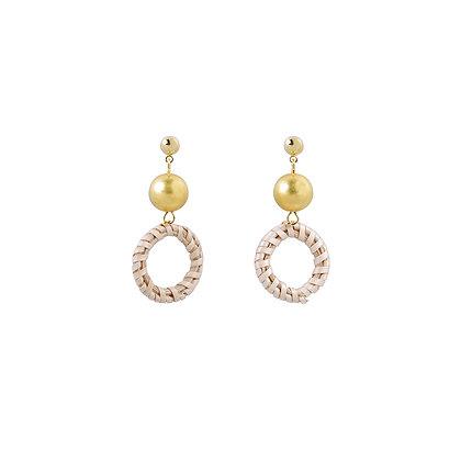 Gold Raffle Drop Earrings