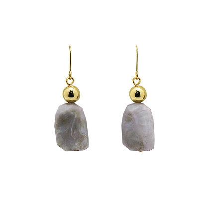 Luna Grey Stone Drop Earrings