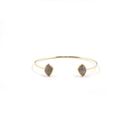 Moonstone Open Cuff Bangle