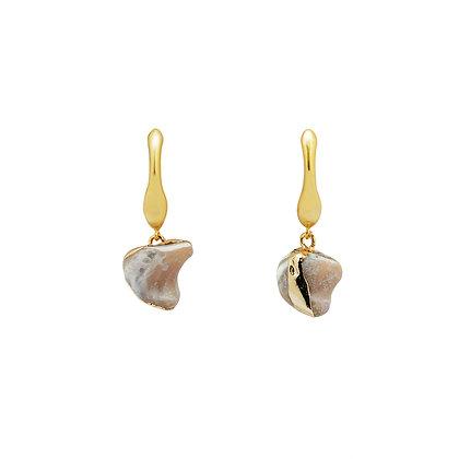 Rustic Stone Drop Earrings