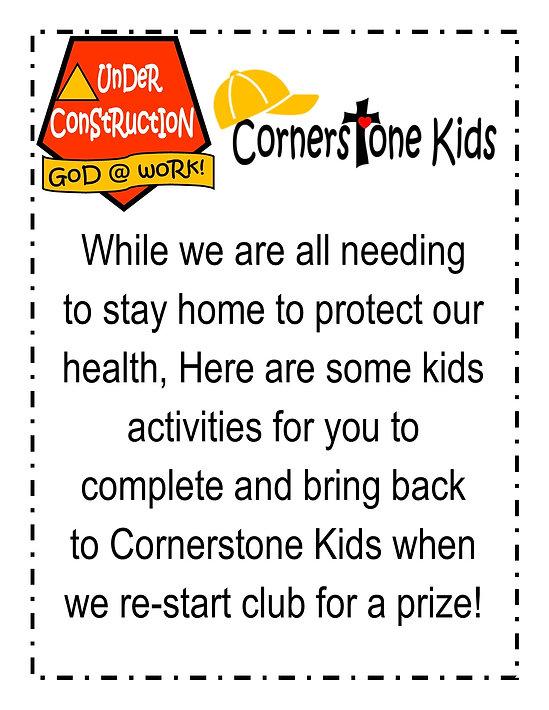 Kids Club Website Activities Week #1 A.j