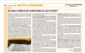 Articolo sui problemi del Glutine