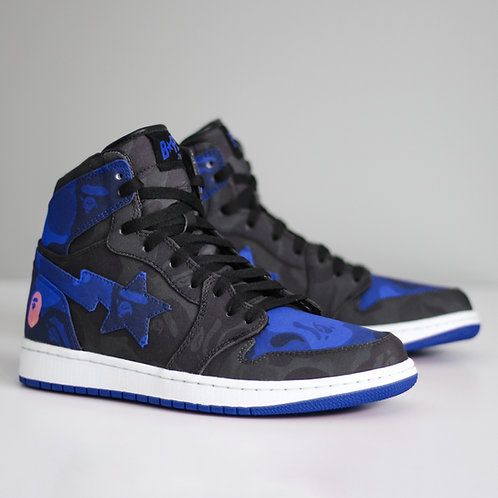 "Bape X Air Jordan 1 High ""Royal"""