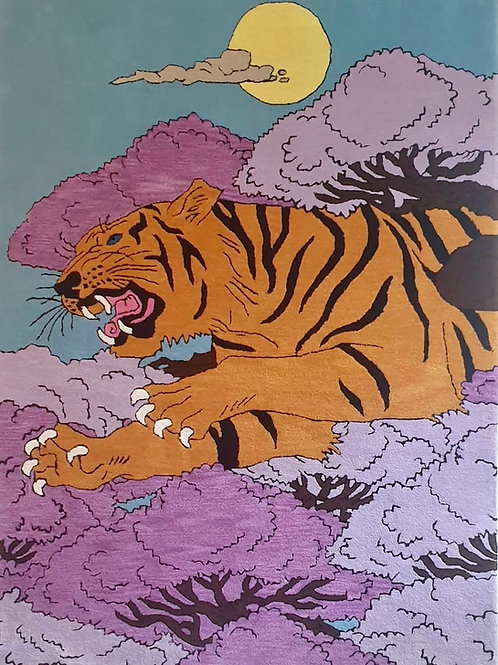 Tiger Tiger Rug Created by Cosmo Illustrator 213 x 152cm