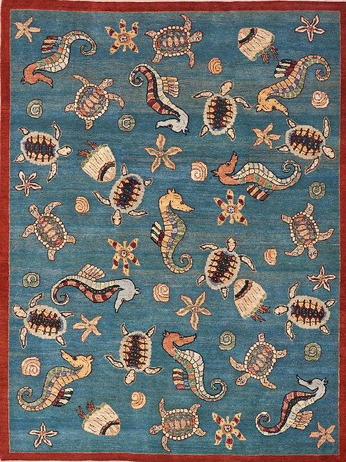 Ocean sea creatures 244 x 184cm
