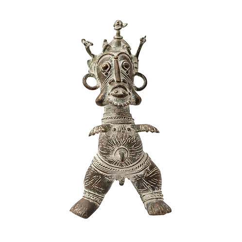 Bronze full-body Ethiopian statue