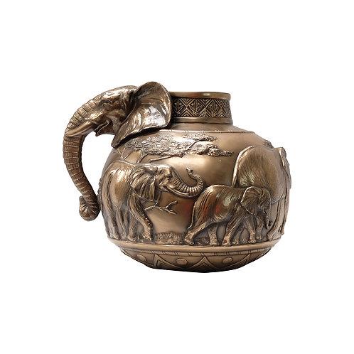 ZAWADI Ceramic Bronze Elephant Vase