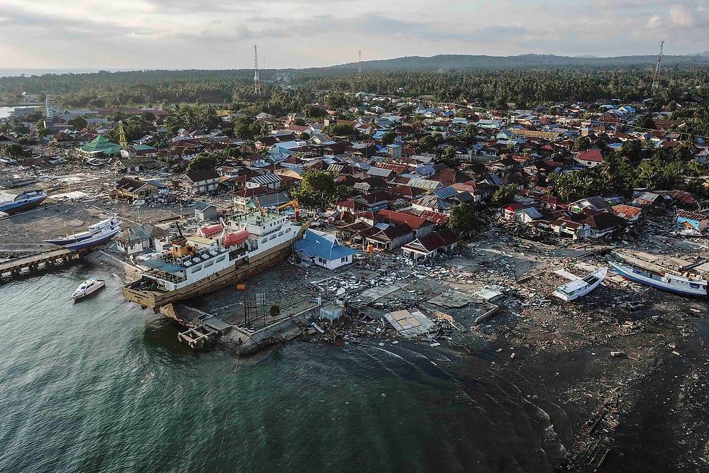 Palu Bay on the island of Sulawesi