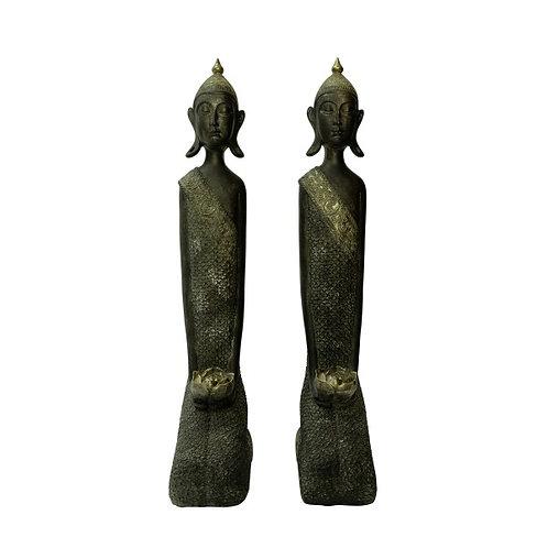 Matching Pair of Buddha Statues