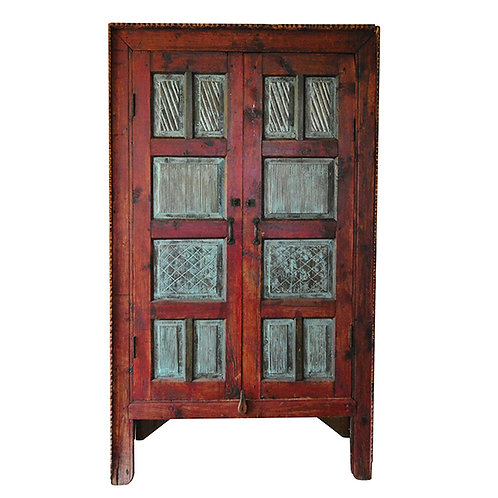 Ethnic Afgan Hand Carved Antique Cupboard
