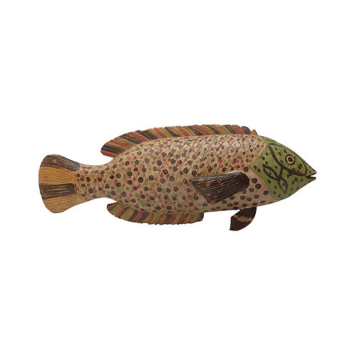 CAMEROON CARVED WOODEN FISH