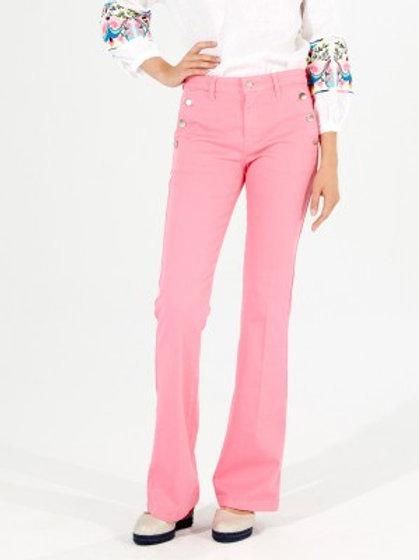 Pantalón rosa campana VILAGALLO