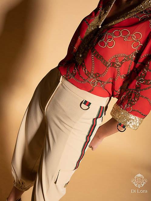 Pantalón cargo beige DI LORA