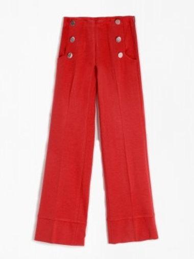 Pantalón cropped rojo VILAGALLO