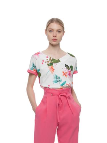 Camiseta estampado floral KOCCA