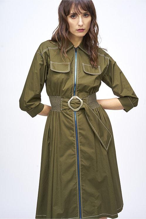 Vestido camisero Kaki MdeMiguel
