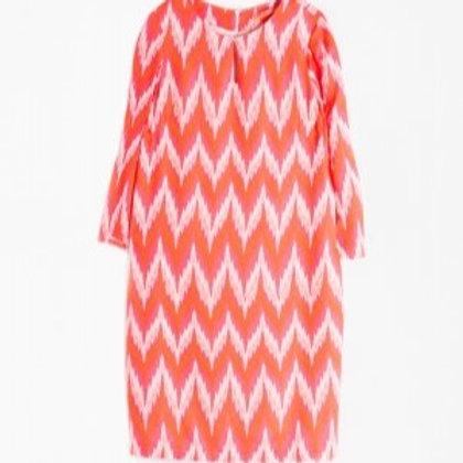 Vestido zigzag naranja VILAGALLO