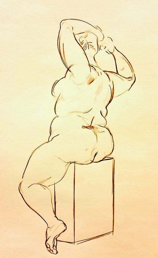 Life Drawing- Reverse Pose