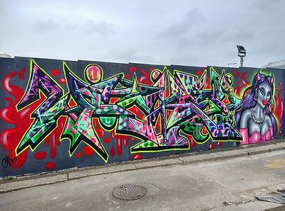 Female Graffiti Urban Street Art Feminis