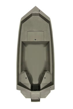 "Model shown with 24"" deck extension and Hunt Deck Transom"