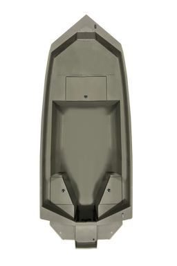 """Model shown with 24"""" deck extension and Hunt Deck Transom"""