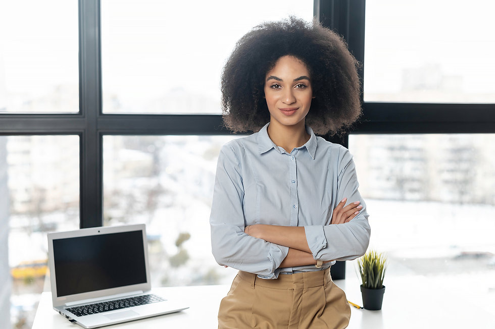 Success black woman smiling | therapy for women | career support for professionals | online therapy in Houston, TX | career support for professionals and entrepeneurs | career counseling for adults | therapy for working professionals | online therapist | houston, tx 77027 | Dallas, TX 75226 | San antonio, tx 78023