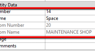 Sync Room/Space Name and Numbers