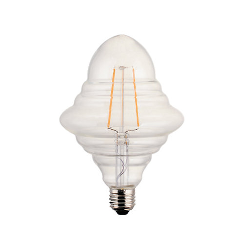 Oval stripes retro filament LED bulb