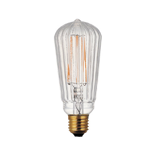 Slim stripes globe retro filament LED bulb