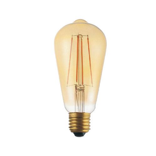 Gold slim globe retro filament LED bulb