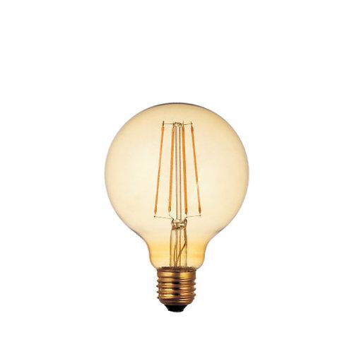 Gold globe retro filament LED bulb