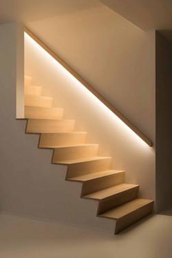 handlrail with light
