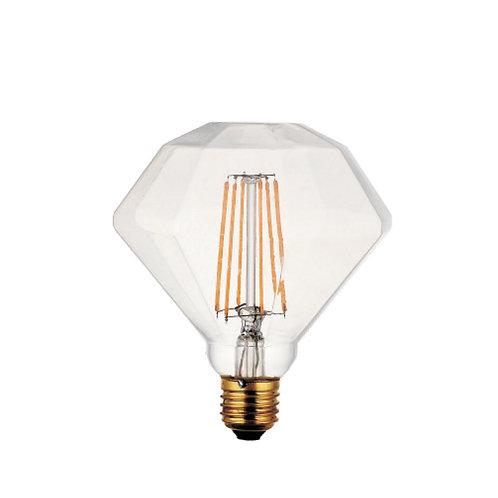 Diamond shape retro filament LED bulb