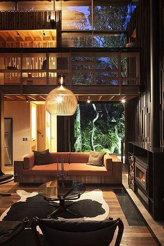wooden suspension light