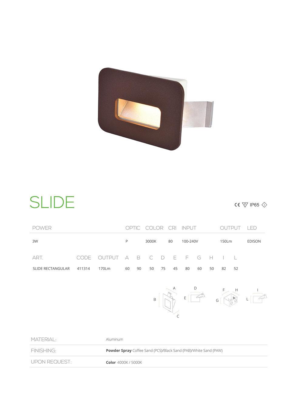 slide led made in bahrain