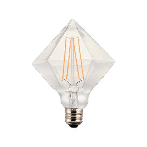 Crystal clear piramidal retro filament LED bulb