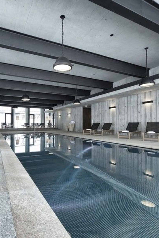 modern  pool lighting