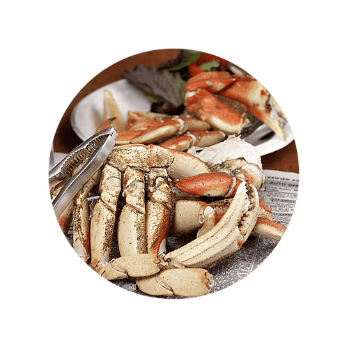 Frozen Dungeness Crabs