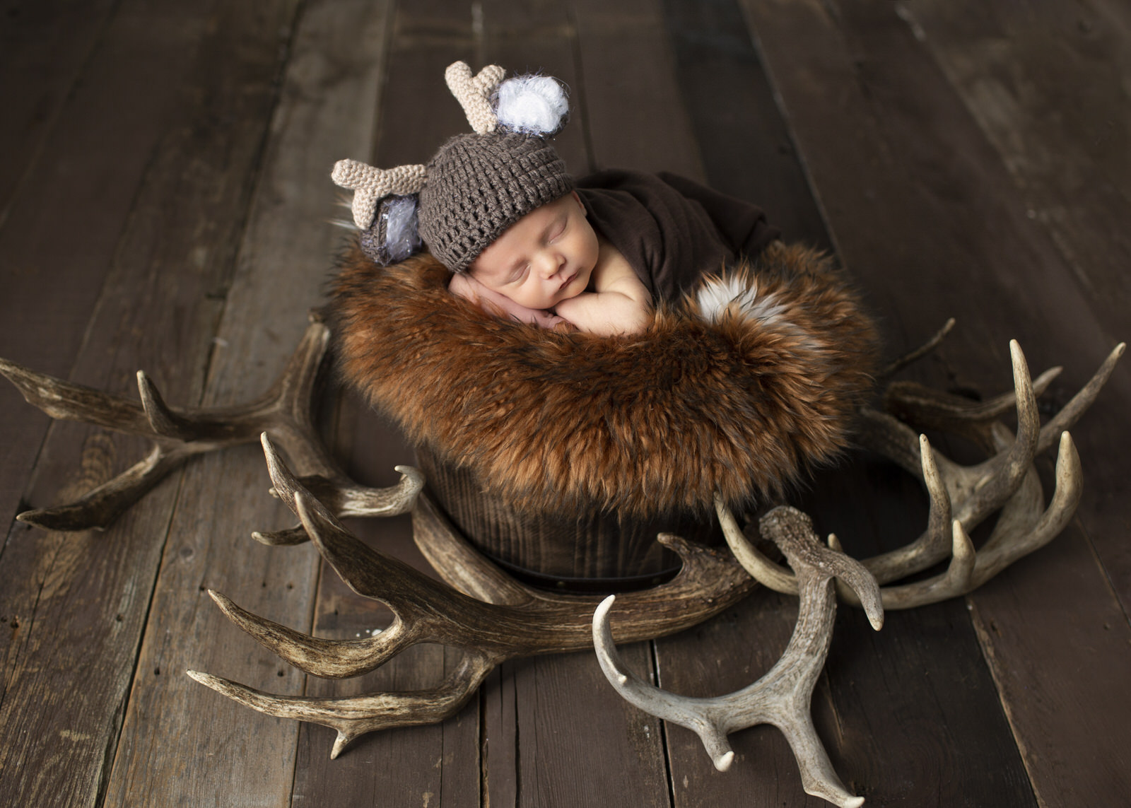 Baby Photos Deer Antlers