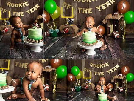 Rookie Of The Year Football Cake Smash Regina